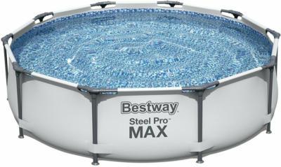 Bestway Stahlrahmenpool-Set Steel Pro Max Ø 305 cm x 76 cm Rund