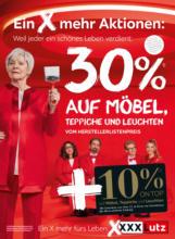 XXXLutz Flugblatt - Ein X mehr Aktionen