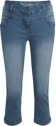 3/4 Damen Boyfriend-Jeans mit Used-Waschung (Nur online)