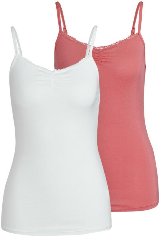 2 Damen Unterhemden mit Spitze (Nur online)