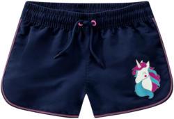 Mädchen UV-Shorts mit Einhorn-Print (Nur online)
