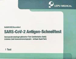 LEPU Corona Schnelltest Selbsttest NASOCHECKcomfort SARS-CoV-2 Antigen-Schnelltest