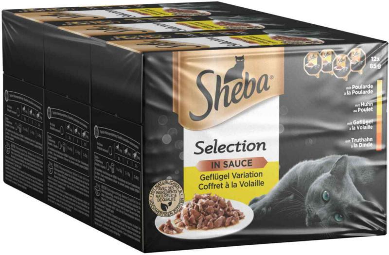 Sheba Sélection en Sauce Coffret é la volaille 3 x 12 x 85 g -