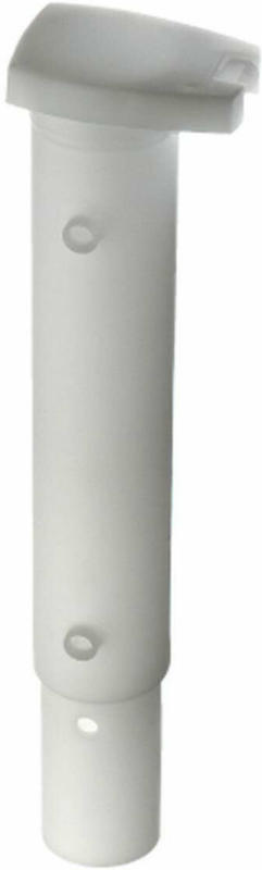 Bodenhülse für Wäschepfähle 44 mm, Kunststoff weiß
