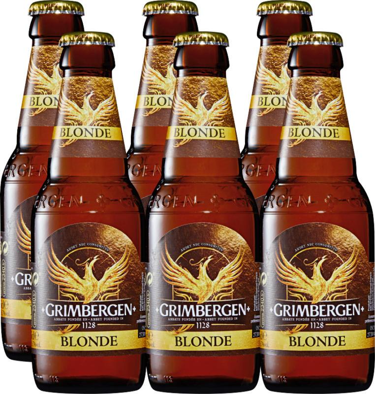 Bière blonde Grimbergen , 6 x 25 cl