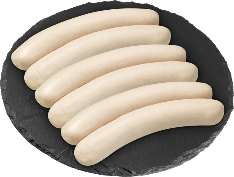Bratwurst di vitello e pollo Denner, 3 x 2 x 160 g