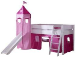 Spielbett 90/200 cm in Rosa, Pink