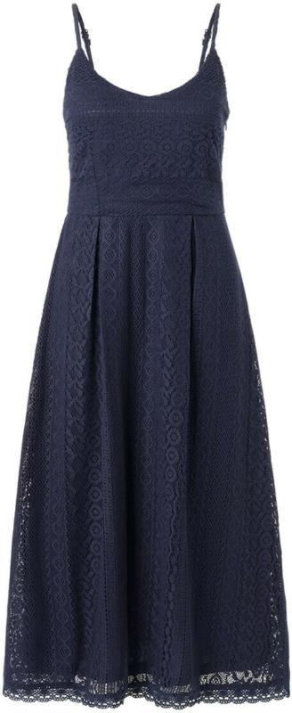 Damen Midi-Kleid mit Häkelspitze (Nur online)