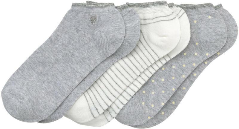 3 Paar Damen Sneaker-Socken mit Effektgarn