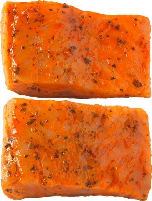 Ab Dienstag erhältlich: Seelachsfilets Tomate-Basilikum