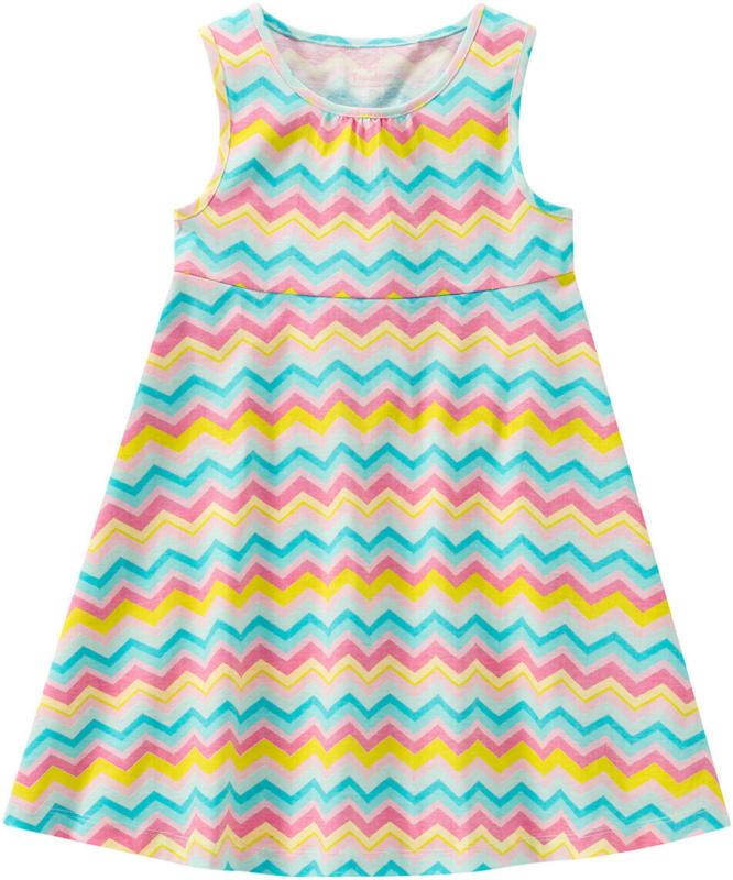 Mädchen Kleid mit Zickzack-Muster (Nur online)