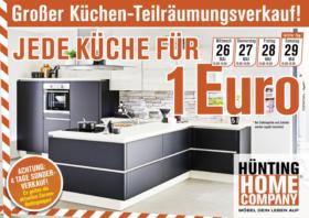 Möbelhaus Hünting: Jede Küche für 1 Euro!