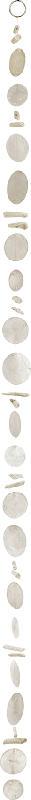 Dekorieren & Einrichten Capizgirlande mit Treibholz weiß