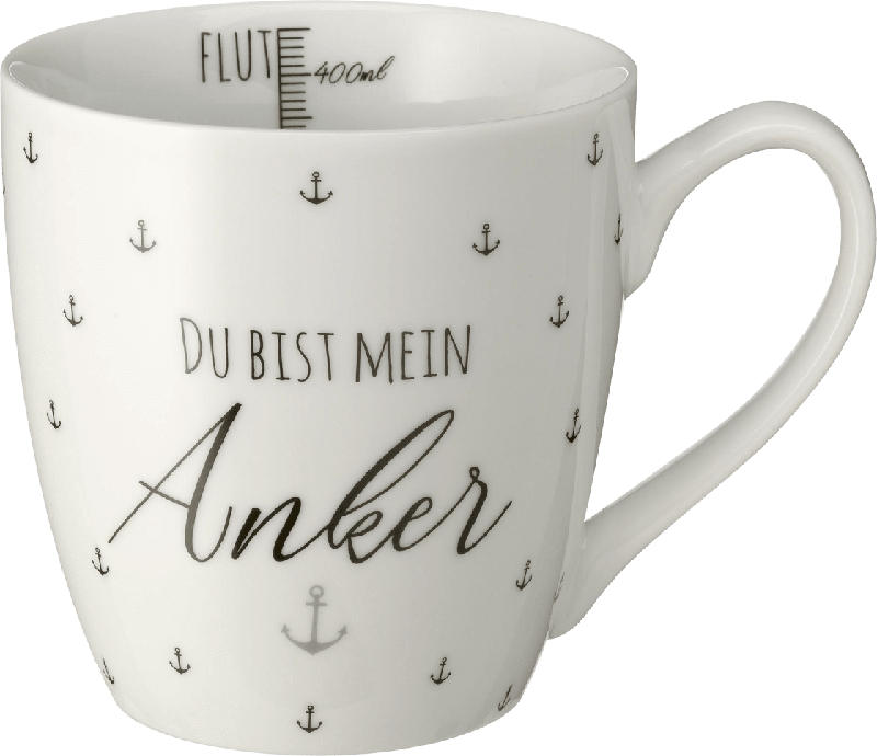 Dekorieren & Einrichten Kaffeebecher Jumbo 'Du bist mein Anker'
