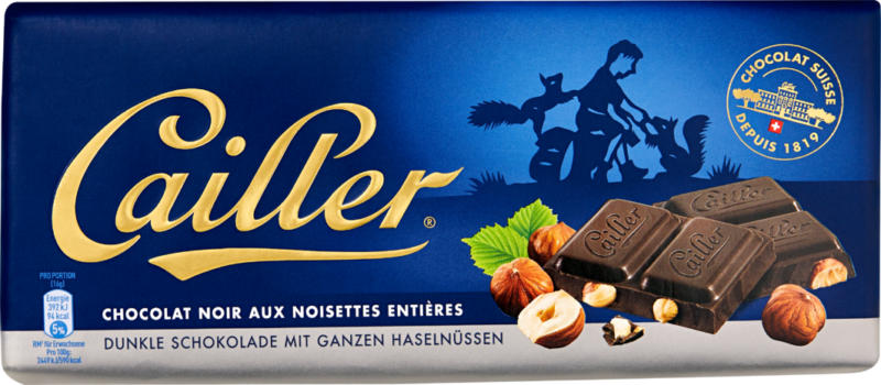 Cailler Tafelschokolade Noir Haselnuss , 100 g