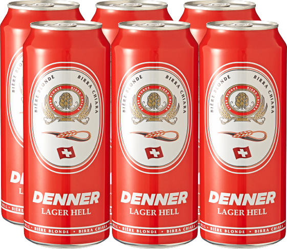 Denner Lagerbier hell, 6 x 50 cl