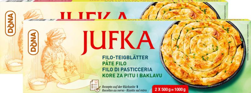 Pasta filo Jufka Dona, 2 x 500 g