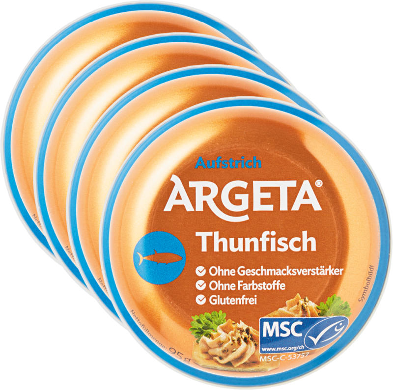Crema da spalmare al tonno Argeta, 4 x 95 g