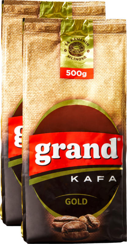 Grand Kafa Gold, macinato, 2 x 500 g