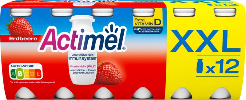 Yogourt à boire Actimel Danone, Fraise, probiotique, 12 x 100 ml