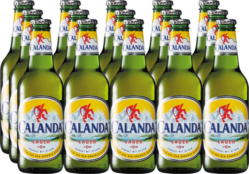 Bière lager Calanda, 15 x 33 cl