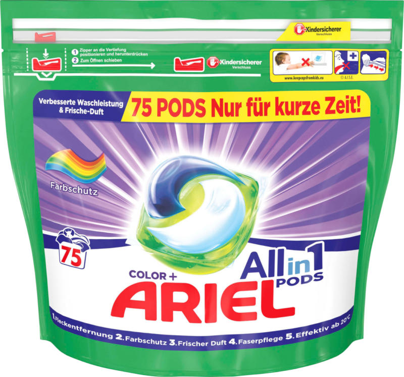 Ariel All in 1 Pods Color,  Color, 75 Waschgänge