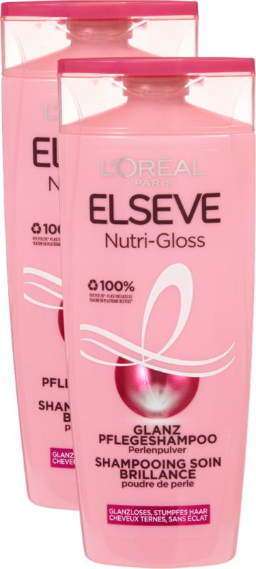 L'Oréal Elsève Shampoo Nutri-Gloss, 2 x 250 ml