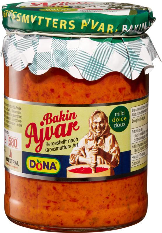 Bakin Ajvar fatto in casa dolce Dona, 530 g