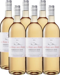 La Rose des Dunes Rosé Bordeaux AOC , 2020, Bordeaux, Frankreich, 6 x 75 cl