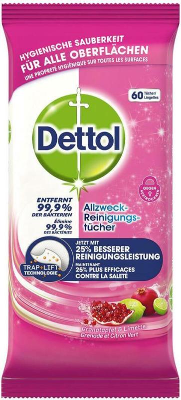 Dettol Reinigungstücher Granatapfel & Limette