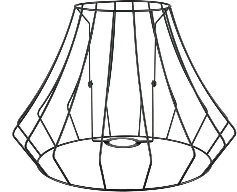 Leuchtenschirm Troti aus Metall in Schwarz