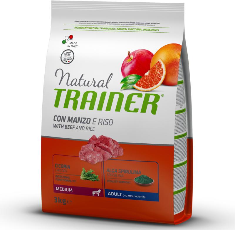 Trainer Hundefutter Natural Medium Adult Rind & Reis 3kg