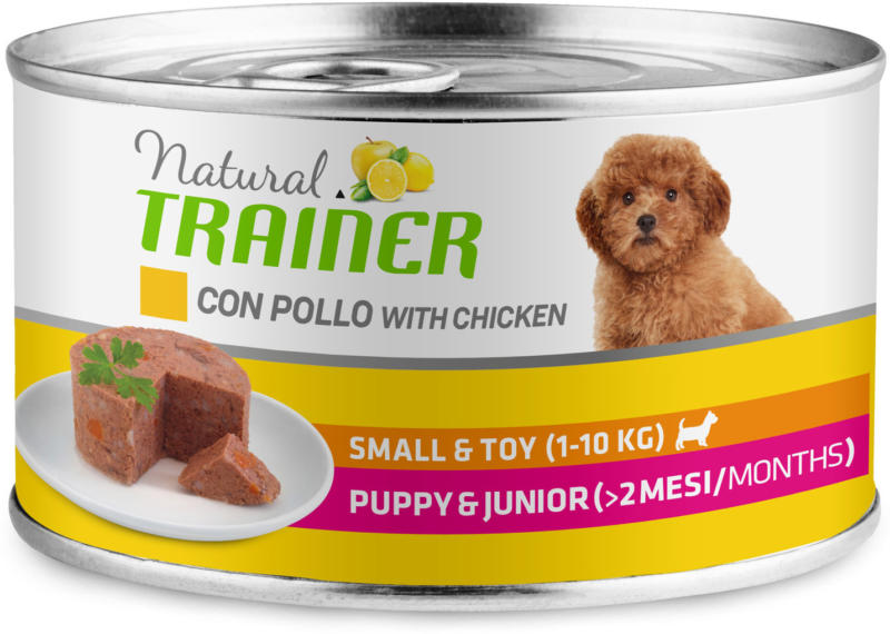 Trainer Hundefutter Natural Small & Toy Puppy & Junior Huhn 24x150g