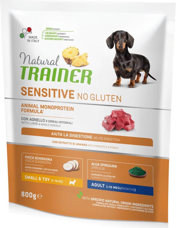 Trainer Nourriture pour chien Sensitive No Gluten Small & Toy Adult Agneau 800g