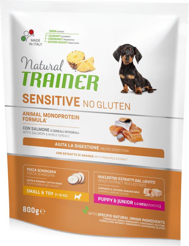 Trainer Nourriture pour chien Sensitive No Gluten Small & Toy Junior Saumon 800g