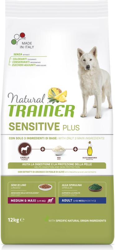 Trainer Nourriture pour chien Sensitive Plus Medium & Maxi Adult Cheval 12kg
