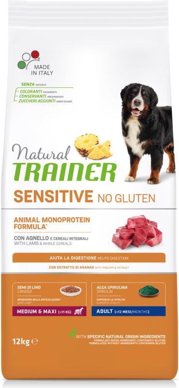 Trainer Nourriture pour chien Sensitive No Gluten Medium & Maxi Adult Agneau 12kg