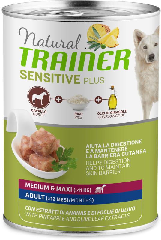 Trainer Hundefutter Sensitive No Gluten Medium & Maxi Adult Pferd 12x400g