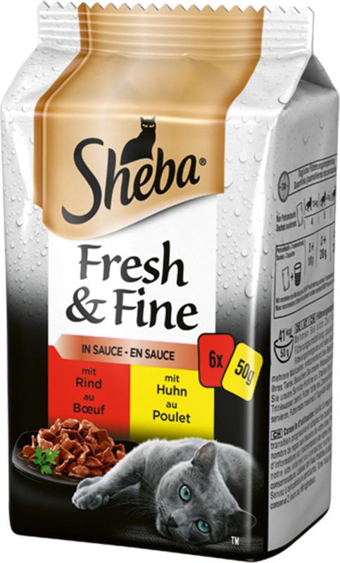 Sheba Fresh & Fine Sélection du boucher 12x6x50g