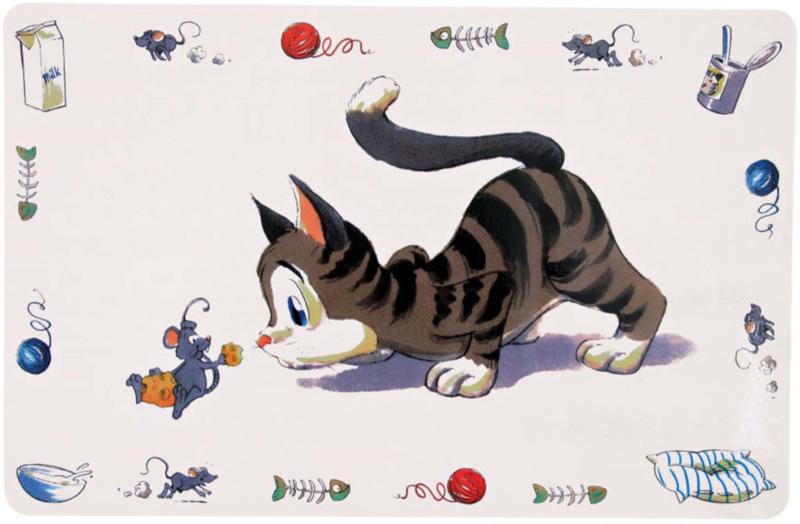 Napfunterlage Comic-Katze 44x28cm