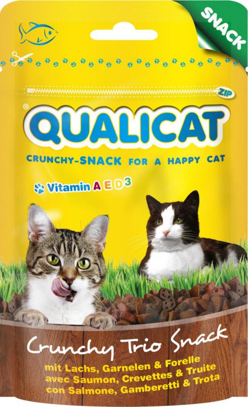QUALICAT Crunchy Trio Snack Poisson 50g