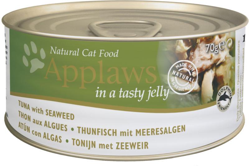 Applaws Tin Thunfisch & Meeresalgen in Gelee 24x70g