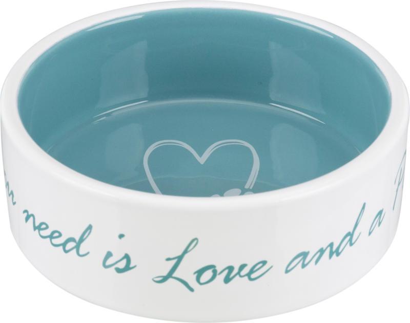Keramiknapf Pets Home 0.3l creme/blau