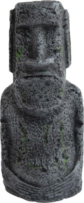 Deep Sea Aquariumdekoration Moai grau S