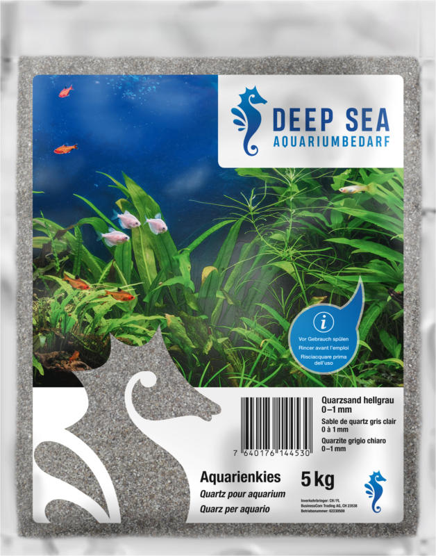 Deep Sea Aquarium Quarzsand hellgrau, 0-1mm, 5kg