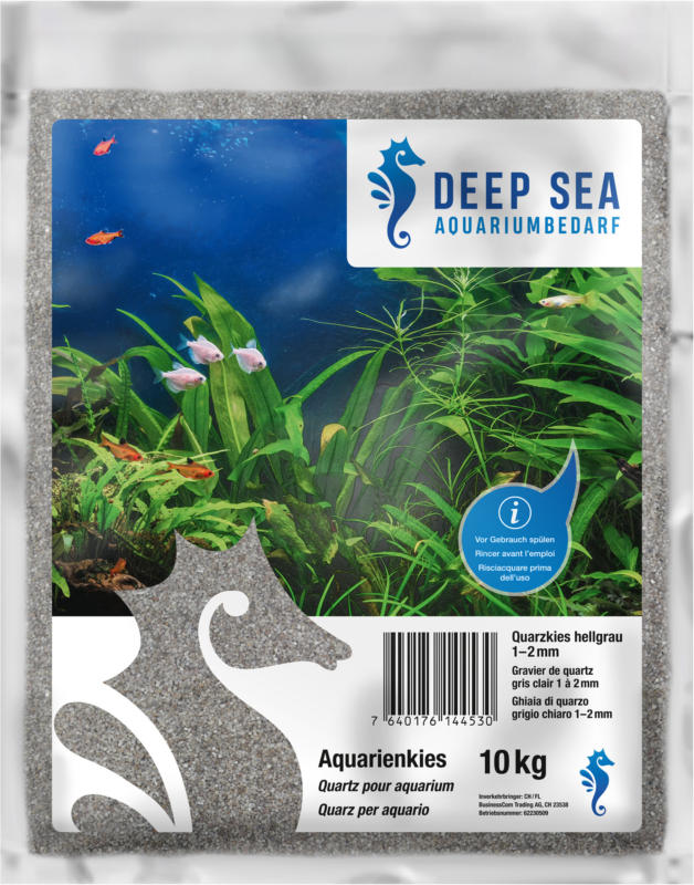 Deep Sea Aquarium Quarzsand hellgrau, 1-2mm, 10kg