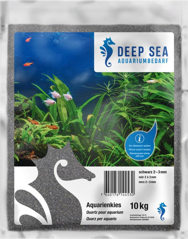 Deep Sea Aquariumkies schwarz, 2-3mm, 10kg