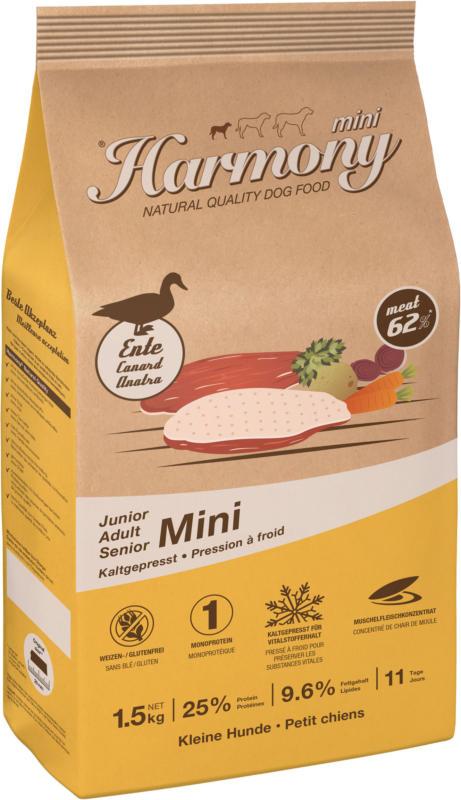 Harmony Natural Mini Canard croquettes pressées à froid 1.5kg