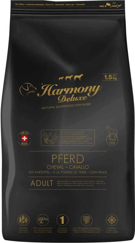 Harmony Dog Deluxe Adult Pferd Halbfeuchtfutter 1.5kg