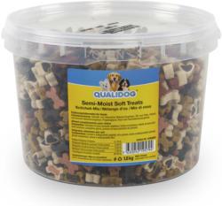QUALIDOG Snacks pour chien Semi-Moist Mix d'os 1.8kg